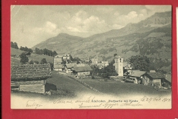 FJE-21  Adelboden, Dorfpartie Mit Kirche. Gelaufen In 1904 - BE Berne