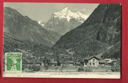 FJE-27  Zweilütschinen Und Wetterhorn. Cachet Frontal. Gelaufen In 1911 - BE Berne
