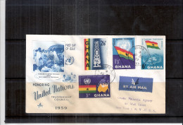 Registered FDC From Accra(Ghana) To USA - United Nations Trusteeship Council - Complete Set (to See) - Ghana (1957-...)
