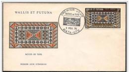 Wallis E Futuna - FDC - Tappeto, Carpet, Tapis, Tapa - Tessili