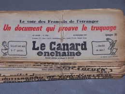 Le Canard Enchaîné - Année 1977 Complète (en Principe) - Política