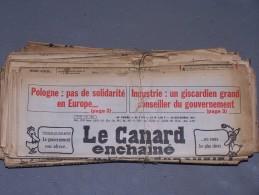 Le Canard Enchaîné - Année 1981 Complète (en Principe) - Politique