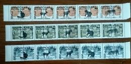 RUSSIE - Ex URSS 15 Valeurs OURS, CHATS, Mammiferes, ** Emis En 1995. Serie Neuve Sans Charniere. (MNH) - Timbres