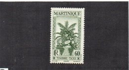 Martinique YT Taxe 19 XX/MNH - Martinique (1886-1947)
