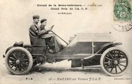 Circuit De La Seine Inférieure 02 Juillet 1907 NAZARO Sur Voiture FIAT - Sonstige
