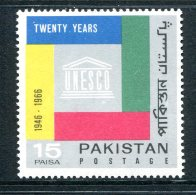 Pakistan 1966 20th Anniversary Of UNESCO MNH - Pakistan
