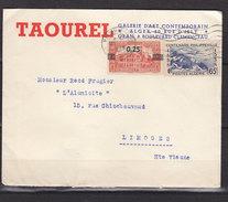 ALGERIE LETTRE A EN TETE TAOUREL GALERIE D'ART - Storia Postale