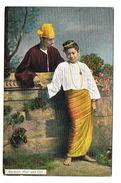CPA BIRMANIE Burmese Man And Girl - Cartes Postales