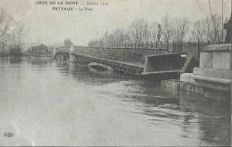 92 CPA PUTEAUX Crue De La Seine Janvier 1910 Le Pont - Puteaux