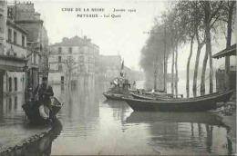 92 CPA PUTEAUX Crue De La Seine Janvier 1910 Les Quais - Puteaux