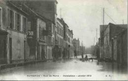 92 CPA PUTEAUX Crue De La Seine Janvier 1910 Rue De Paris - Puteaux