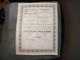 """Action""""Produits Réfractaires Et Céramiques Du Donetz""""Seilles 1897 N°0247. - Russie"""