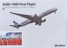 Poster Airbus - Avion De Ligne A350-1000, 1er Vol - Posters