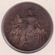 F136-27 10 CENTIMES MARIANNE 1916 - France