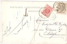 CPA - BELGIQUE - Cachet  De St-GILLES -Cachet OCIO Surtaxe De 10 C Sur Liege En 1909