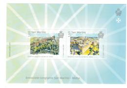 San Marino 2016 Emissione Congiunta Malta-San Marino 2v In Foglietto ** MNH Complete Set - San Marino