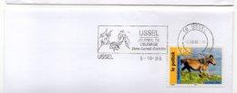 Corrèze Flamme Temporaire Concordante Ussel Journée De L'élevage 2ème Samedi D'octobre Cheval Vache Mouton 1995 - Marcofilia (sobres)