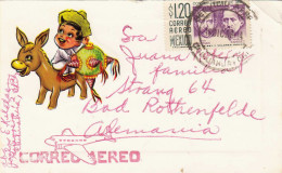 Weihnachtskarte Aus MEXICO Gel.1958 Mit Marke - Mexiko