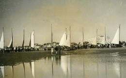 France Le Touquet Plage Course D'aéroplages Char A Voile Ancienne Photo 1937 - Places