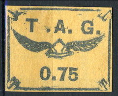 Guyane  Posta Aerea 1921 N. 3 F. 0,75 Nero Su Salmone MNG (senza Gomma) Catalogo € 1600 FALSO