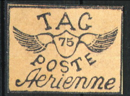 Guyane  Posta Aerea 1921 N. 8 C. 75 Nero Su Salmone MNG (senza Gomma) Catalogo € 1600 FALSO