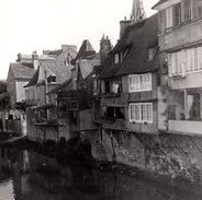 Grande Photo Originale - Indre - Argenton-sur-Creuse - 36200 - Vieilles Maisons Au Bord De La Creuse - Lieux
