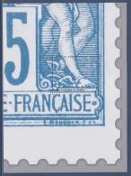 = Bloc Gommé Neuf Type Sage  De Phil@poste Sans Valeur Faciale Soit 1/4 Du Timbre 78 Représenté Bas Droit - Sheetlets
