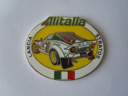 Pin's Rallye Lancia  Stratos Corse Alitalia Sandro Munari - Rallye