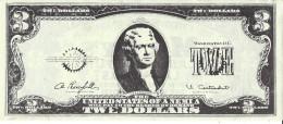 Vintage Mr. Sy's Casino Las Vegas - $3 Paper Twe Dollar Bill (2 Scans) - Advertising