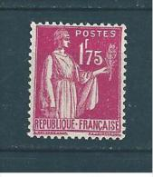 France Type Paix N° N°289   Neuf * Légère Trace De Charnière - 1932-39 Paix