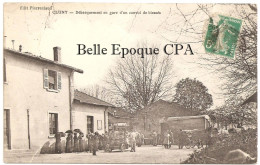 71 - CLUNY - Débarquement En Gare D'un Convoi De Blessés ++++ Édit. Pierreclaud ++++ 1916 ++++ - Cluny