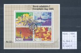 Noorwegen 1985 - Yv. Blok 5 - Michel Blok 5 Gest./obl./used - Blocs-feuillets