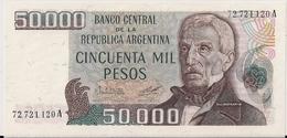 ARGENTINA=N/D   50.000  PESOS   P-307   UNC - Argentine