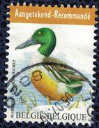 Belgique 2015 Oblitération Ronde Used Animaux Oiseaux Canard Souchet Recommandé - Belgique