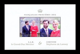 Luxembourg 2012 Mih. 1945/46 (Bl.29) Royal Engagement MNH **