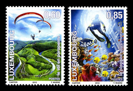 Luxembourg 2012 Mih. 1947/48 Fun And Liberty. Paragliding. Diving MNH **