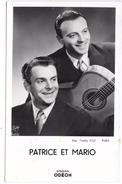 PATRICE ET MARIO - Disques ODEON - Autographes - Chanteurs & Musiciens