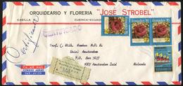 ECUADOR - R-Airmail Cover Sent From Cuenca To Amsterdam, The Netherlands. - Ecuador