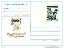 ITALIA - ITALY - ITALIE - 2010 - PREMIO INT. ASIAGO D´ARTE FILATELICA - 1 CARTOLINA POSTALE ** - Ganzsachen