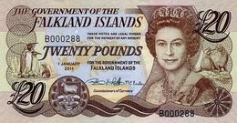 FALKLAND ISLANDS 20 POUNDS 2011 P-15 UNC  [FK221b] - Islas Malvinas