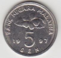 @Y@   Maleisië     5 Sen   1997     (4083) - Malaysie