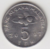 @Y@   Maleisië     5 Sen   2007     (4084) - Malaysie