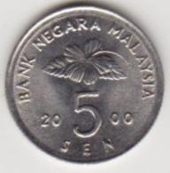 @Y@   Maleisië     5 Sen   2000     (4089)  AUNC - Malaysie