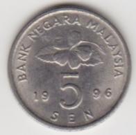 @Y@   Maleisië     5 Sen   1996     (4095) - Malaysie