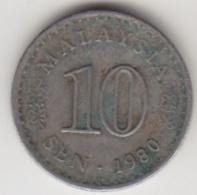 @Y@   Maleisië     10  Sen   1980     (4108) - Malaysie