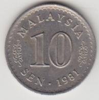 @Y@   Maleisië     10  Sen   1981     (4110) - Malaysie