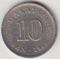 @Y@   Maleisië     10  Sen   1981     (4111) - Malaysie