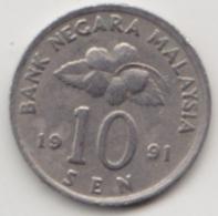 @Y@   Maleisië     10  Sen   1991     (4120) - Maleisië