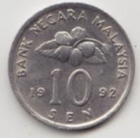 @Y@   Maleisië     10  Sen   1992     (4121) - Maleisië