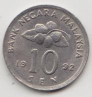 @Y@   Maleisië     10  Sen   1992     (4122) - Maleisië